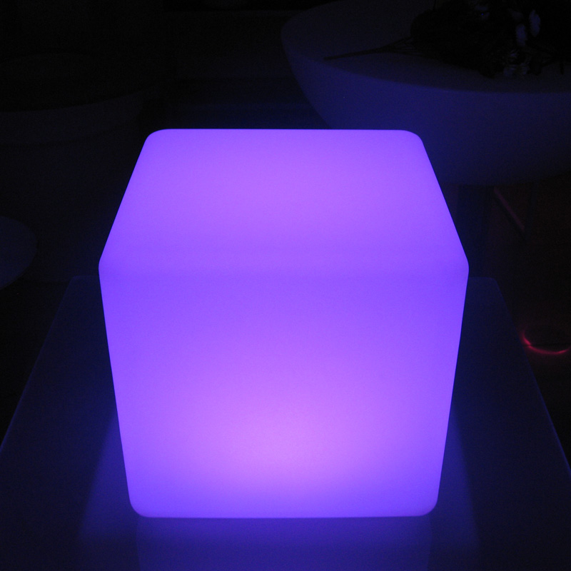 30cm Color Changing Rechargeable Outdoor Light Cube Furniture Sitting Cube