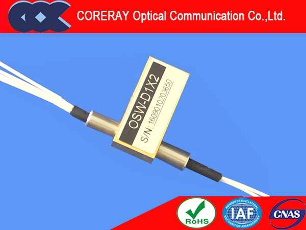 High Speed Dual 1x2  Mechanical Fiber optic switch