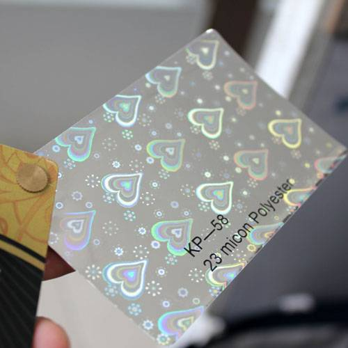 Heart style holographic film
