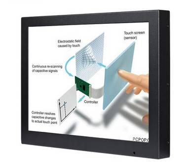 7, 15, 19, 22 Inch LCD Touch Screen Advetising Display Digital Signage