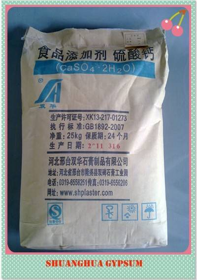 dihydrate calcium sulfate for food grade