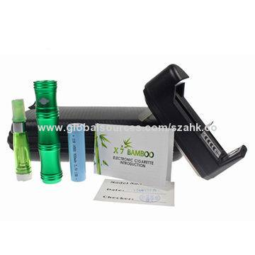 Electronic cigarette starter kits with X7 bamboo e cigarette-#5230
