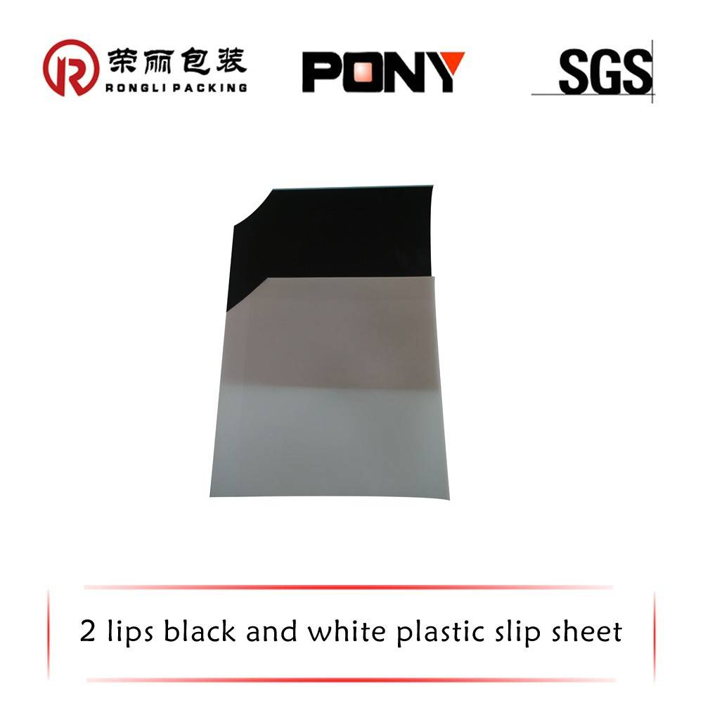 100% recycled HDPE White/Black plastic pallet slip sheet for wholesale