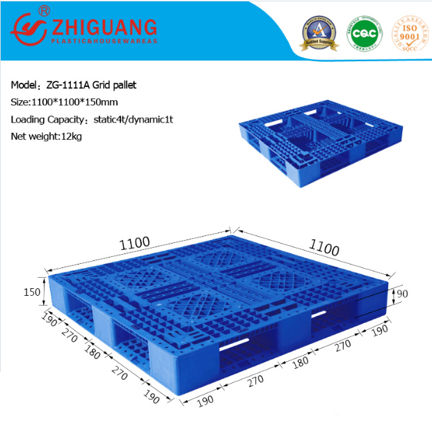 Stacking Single Faced Plastic Pallet for Storage (ZG-1111A)