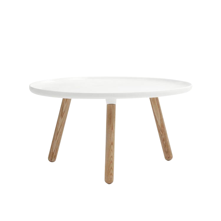 North European Design Wholesale Wood White Round Coffee Table