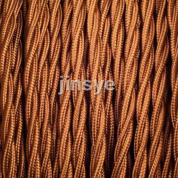 Twisted Vintage Braided cable Fabric Wire Electric Cable types For Lighting Lamp