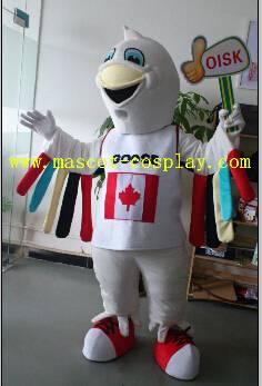 OISK Professional custom mascot costume rainbow bird mascot adult size