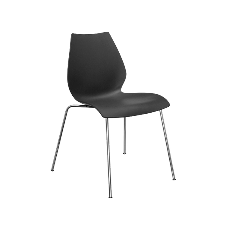 Leisure Dining Chair Cheap Armless Plastic Chair for Sale