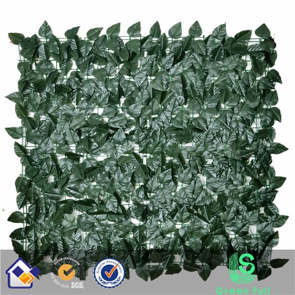 artificial laurel leaf fence