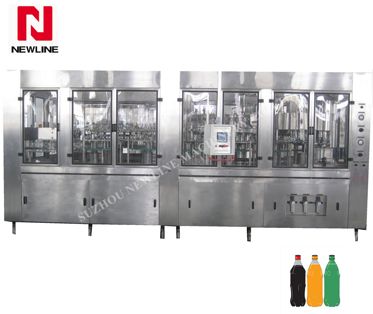 Automatic bottle carbonated soft drink bottling plant