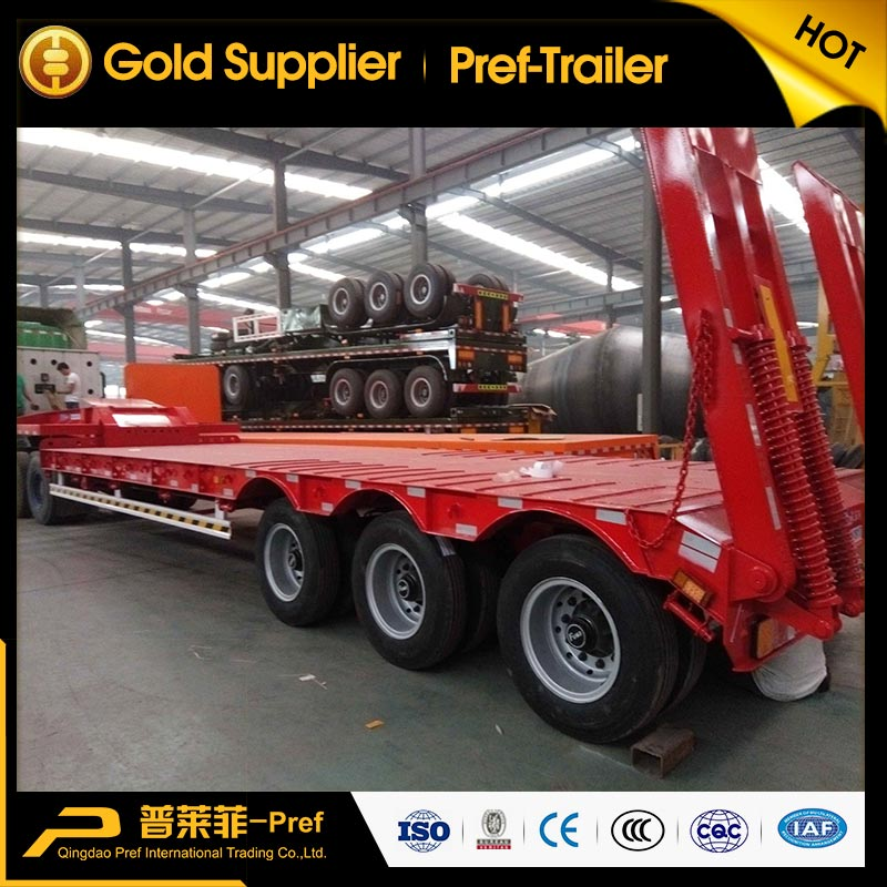 2017 new factory price heavy machine delivery low loader trailers lowbed semi -trailer 3 axle new