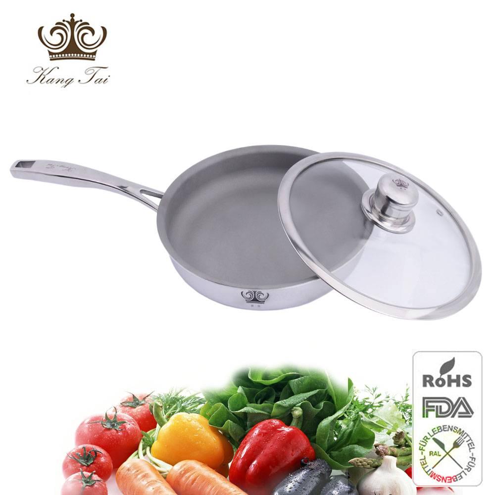 2015 hotsale 24cm titanium frying pans with clear lid