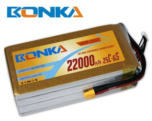 Bonka-22000mah-6S1P-25C muticopter lipo battery