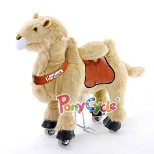 PonyCycle Large Mechanical Rocking Horse Toy, Ride on Bounce up and Down and Move, 44'' for Children