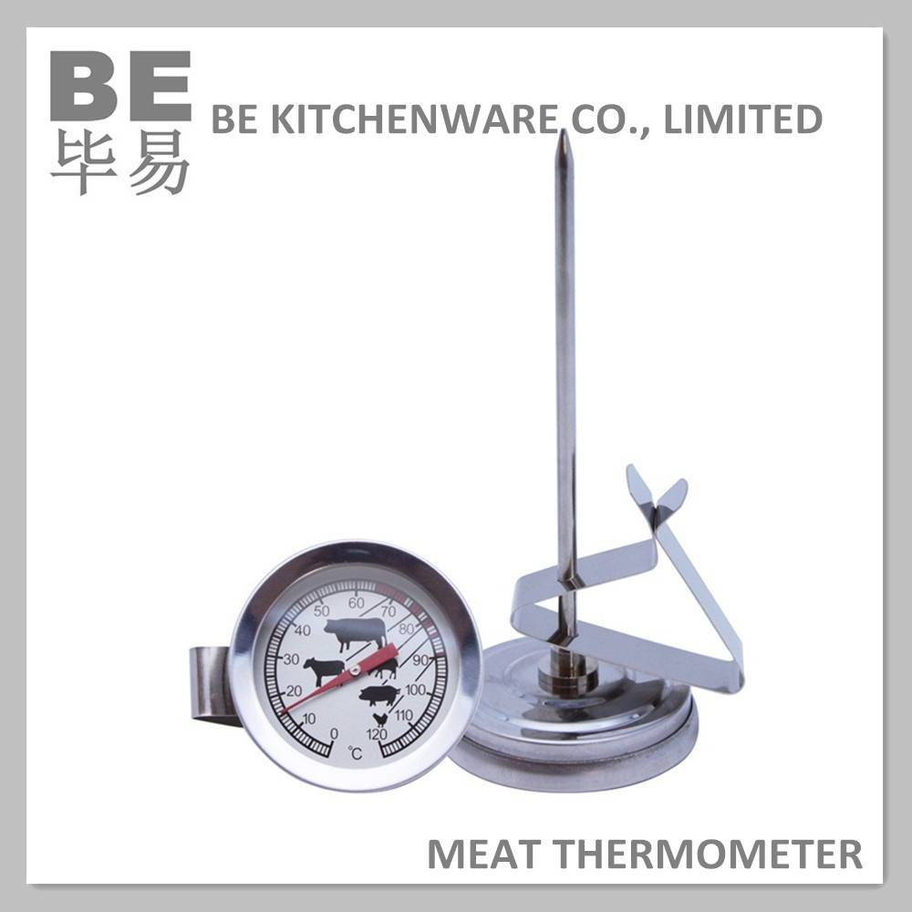 Instant read mechanical microwave meat thermometer