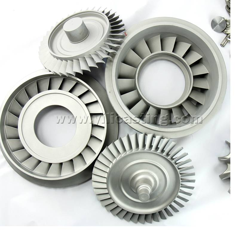 vacuum casting nickel base alloy turbojet parts turbine disc/wheel and nozzle guide vane