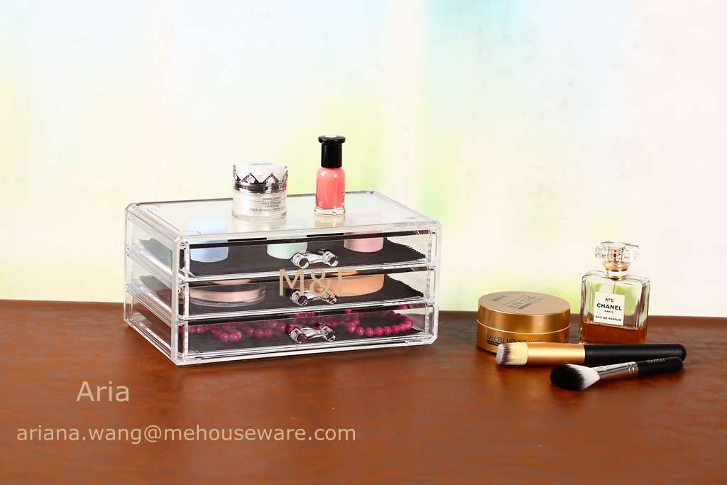 Cheap Acrylic Makeup Organizer with 3 Drawer Only