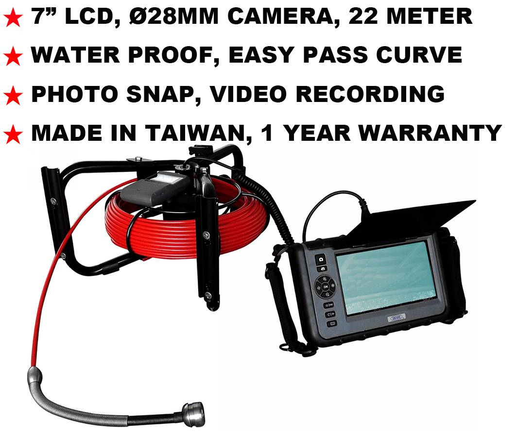 "JKS-2822 7"" LCD Industrial Borescoep Endoscope Videoscope NDT Pipe Inspection"