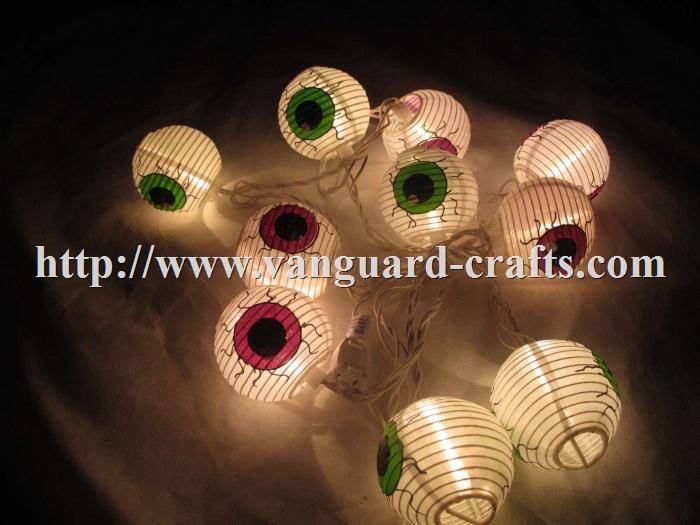 Fabric Lantern LED HALLOWEEN Light Strings