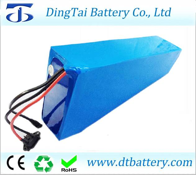 Triangle frame battery 48V 30Ah lithium ion ICR18650 30B electric bicycle battery for electric fat b