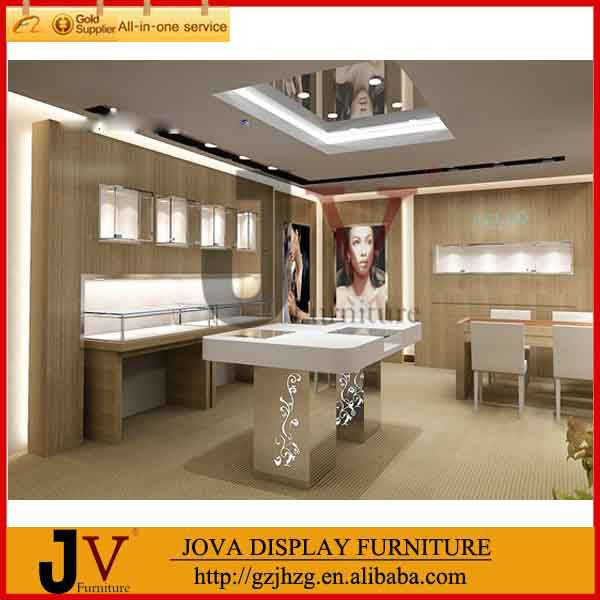 Shop counter table design jewelry showroom displays show case display