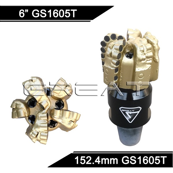 GREAT GS1605T Steel Body PDC Drill Bit