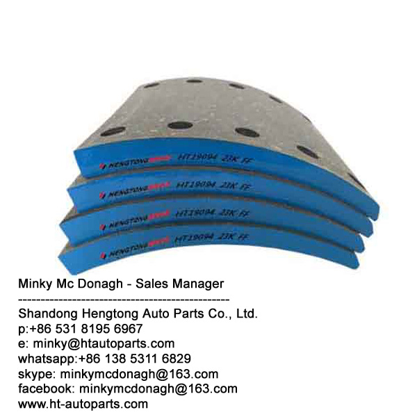 China factory directly supply Brake lining 19256