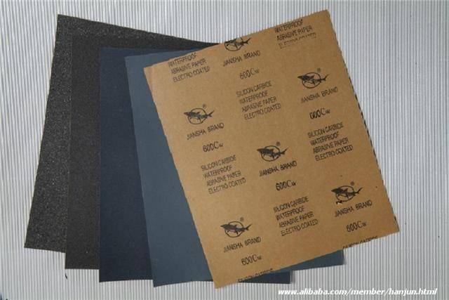 Silicon Carbide waterproof abrasive paper