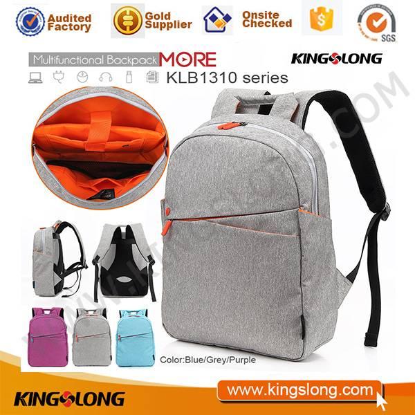2016 Kingslong superior high density linen waterproof backpack school bag