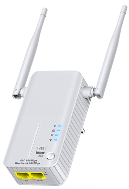 1200Mbps Powerline Adapter with AC Pass Through