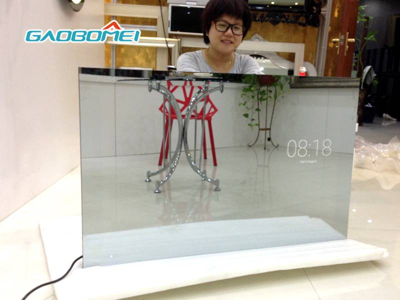 "Gaobomei 43"" TV Mirror Factory supply Full hd 1080p magic mirror android smart led mirror tv"