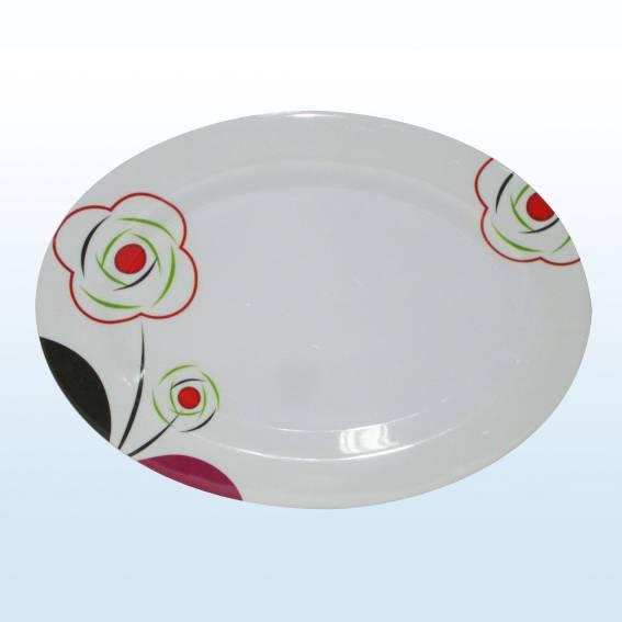 oval melamine plate