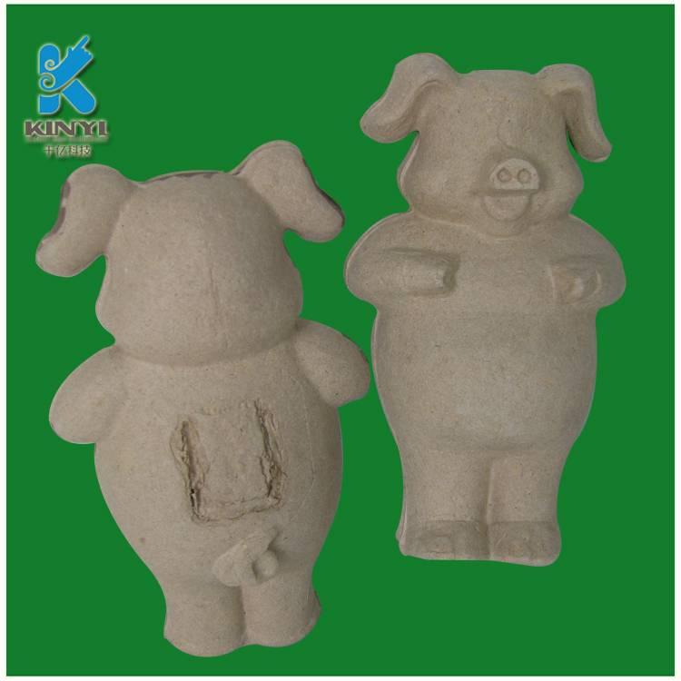 Biodegradable pulp animal craft