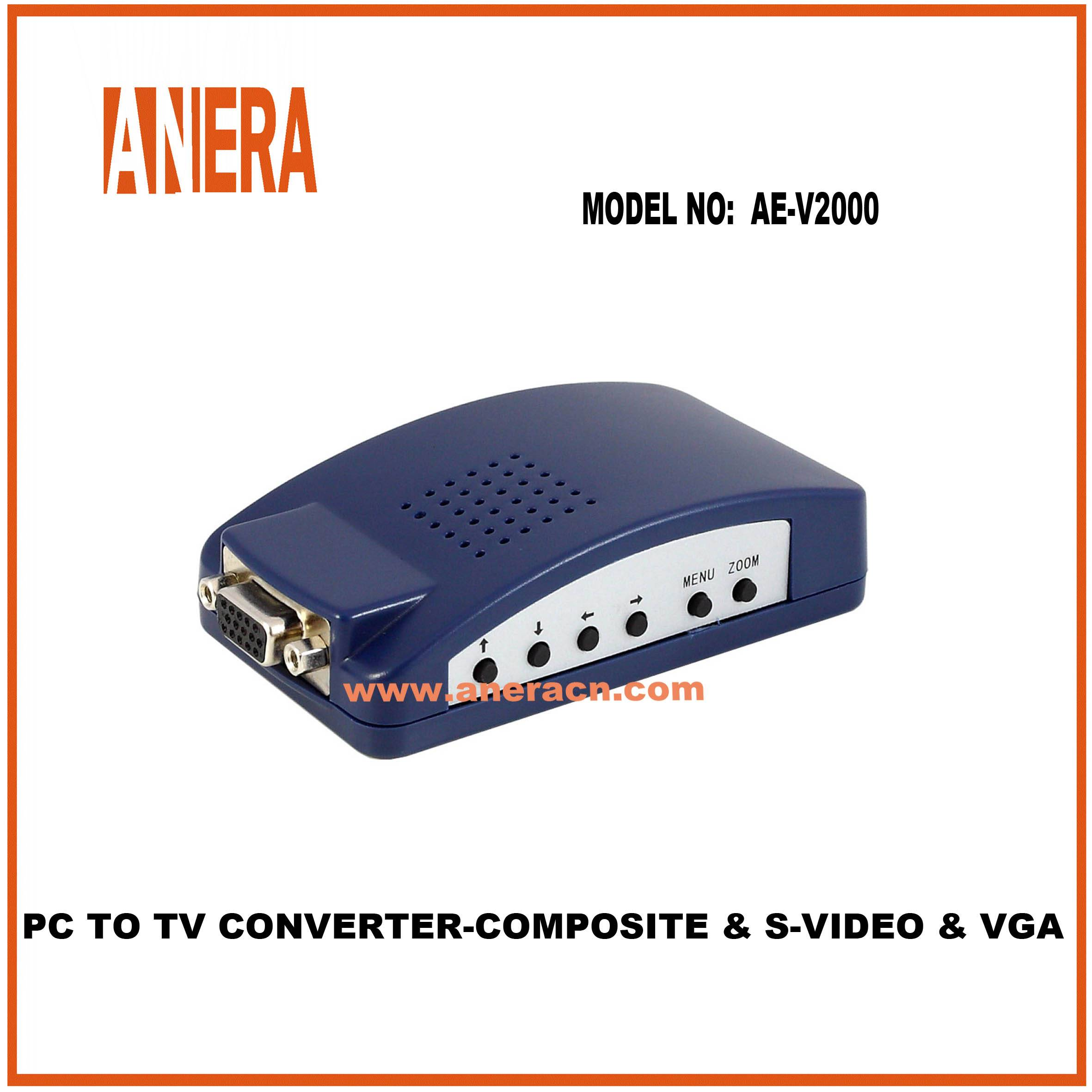 PC TO TV CONVERTER-COMPOSITE & S-VIDEO & VGA LOOPTHROUGH