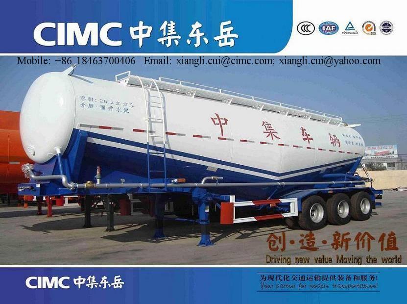 CIMC 30 cbm bulk cement semi trailer