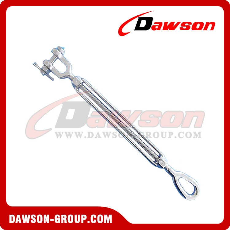 Stainless Steel US Type Eye & JAW Open Body Turnbuckle