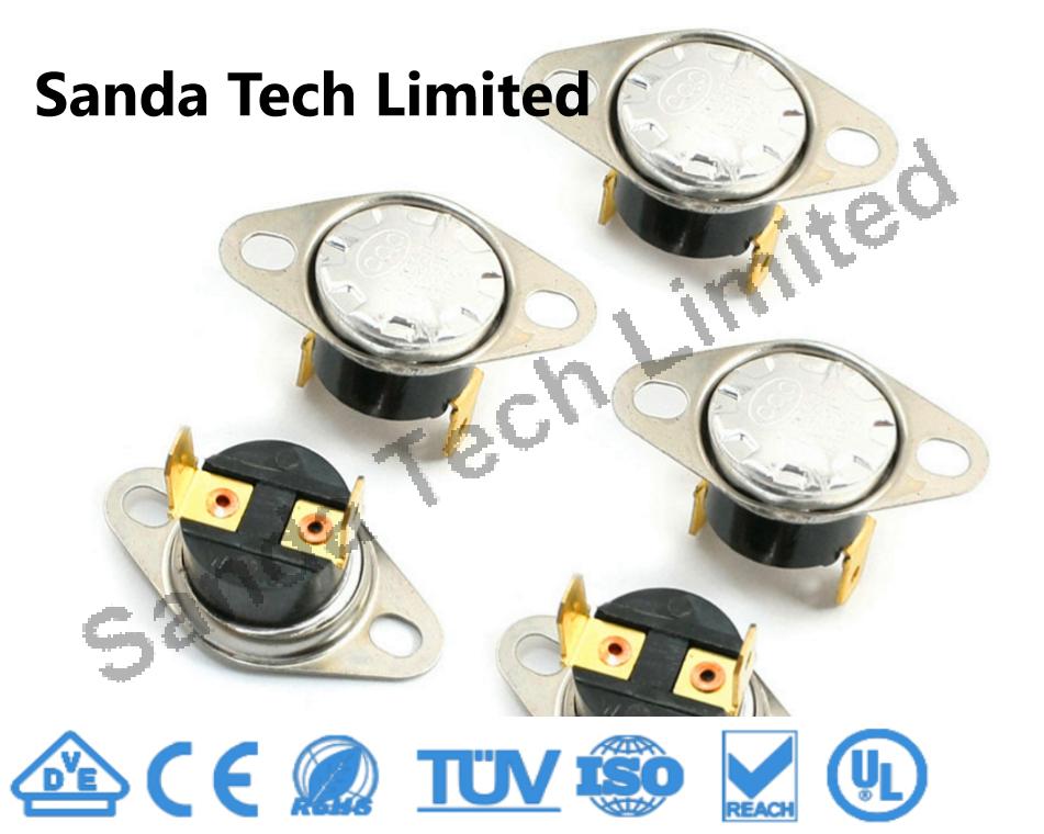 Ksd301 Ksd302 Ksd305 Home Appliances Part Fixed or Movable Bimetal Thermostat 250V 10A