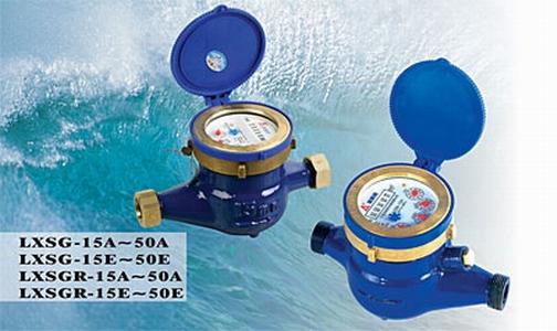Rotary vane wheel dry-dial water meter