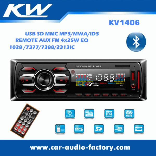 KV1406 Car audio MP3 player with FM Radio
