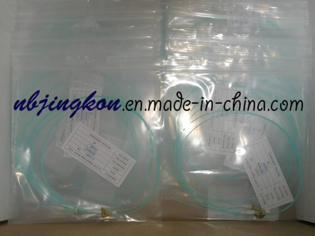Fiber Optic Pigtail-LC/UPC OM3-0.9mm aqua