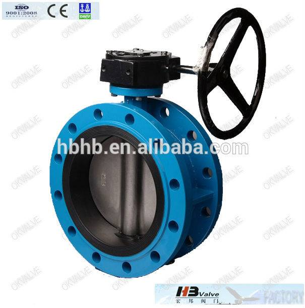 Hand wheel double flanged butterfly valve dn200