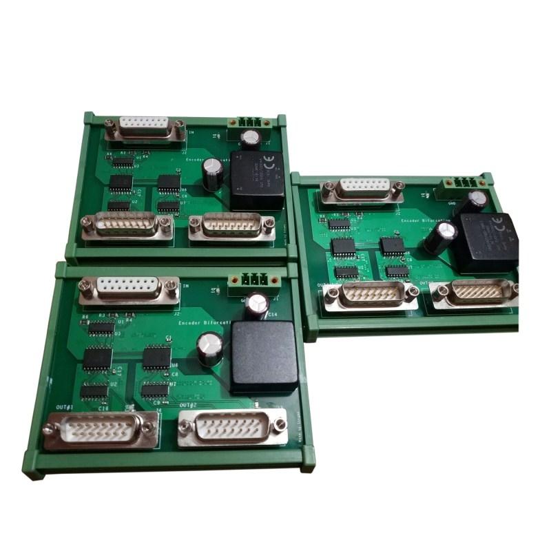 1 input 2 output Printer, cnc and measurement encoder branching