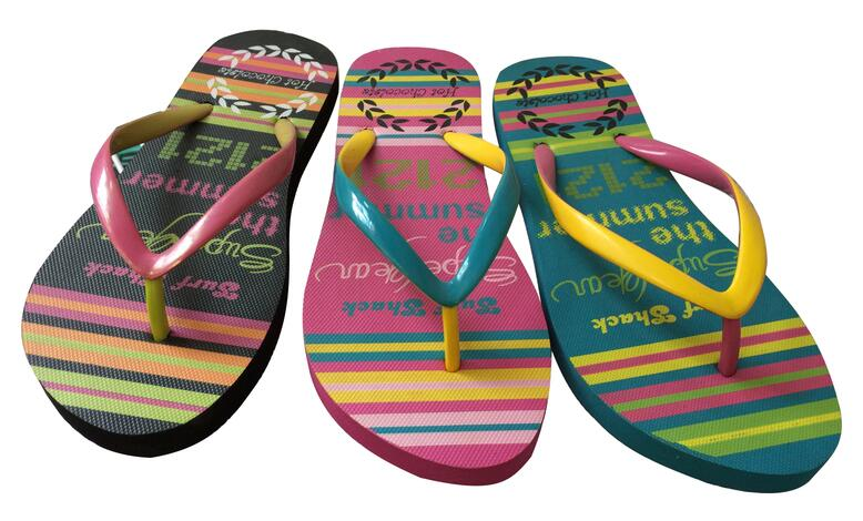 Hot Selling Pvc Straps Women EVA Flip FLops Ladies Beach Slippers