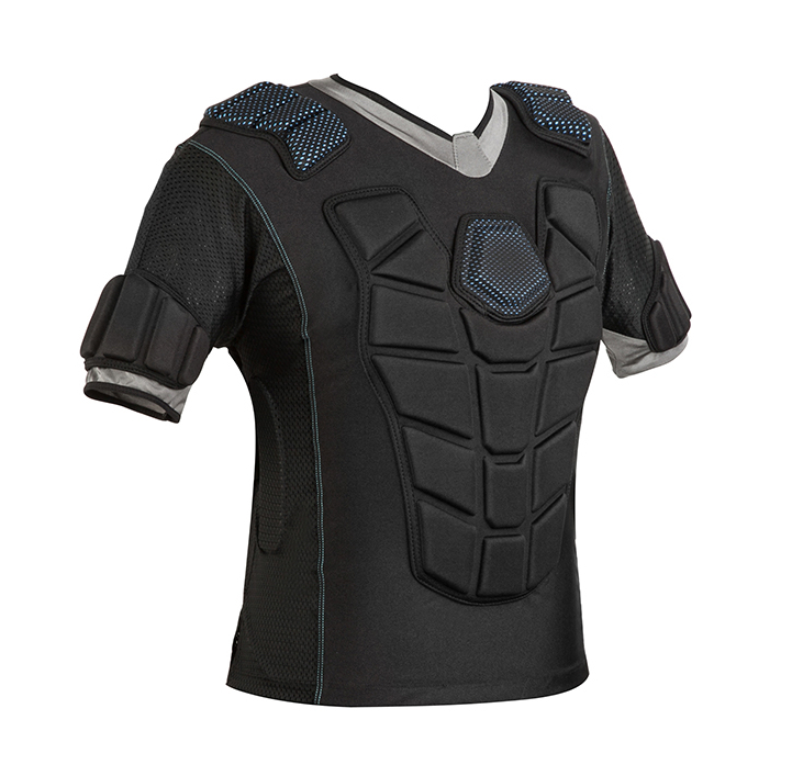 Adults and Kids Padded Compression Sports Protective T-Shirt Rib Chest Protector Extreme Exercise