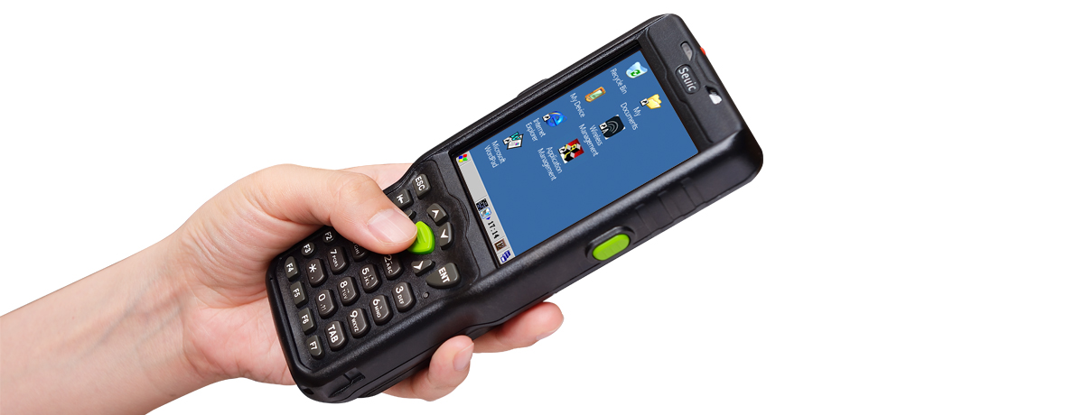Handheld PDA Computer with Barcode Scanner