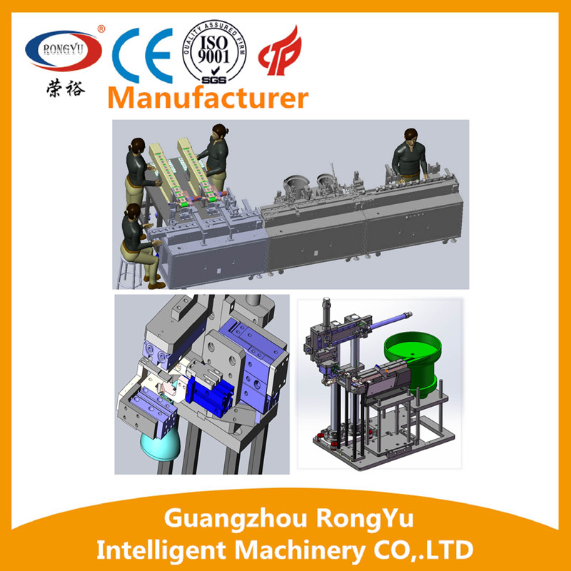 Semi automatic linear type conveyor assembly line machine with definition