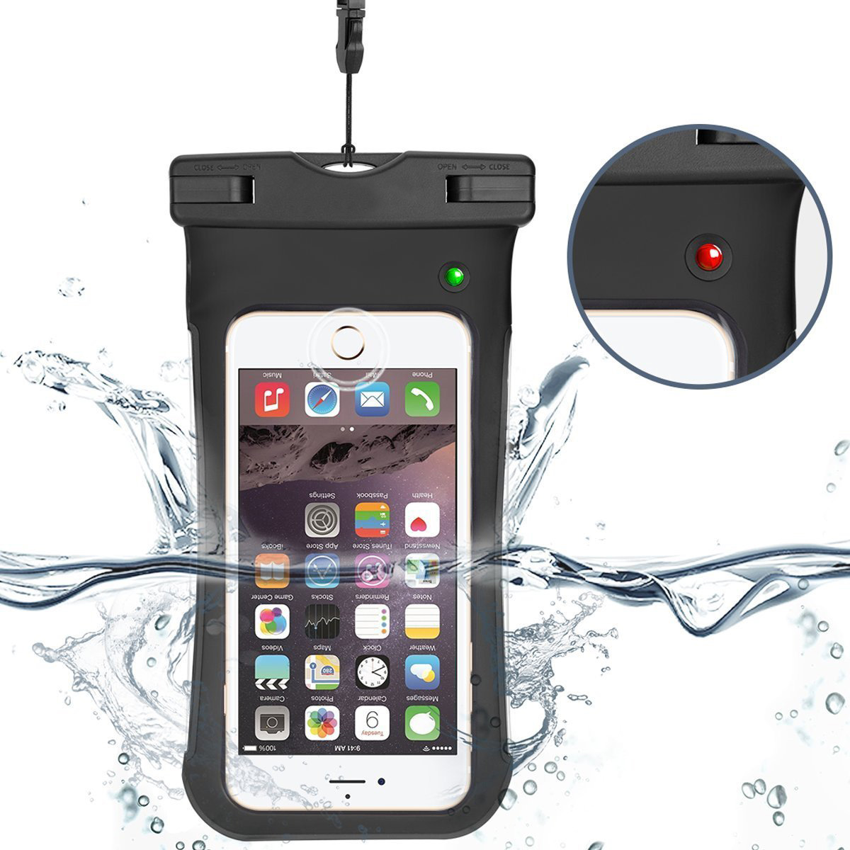 The World First Water Leakage Alarm System waterproof dry bag for iPhone,Samsung,Huawei