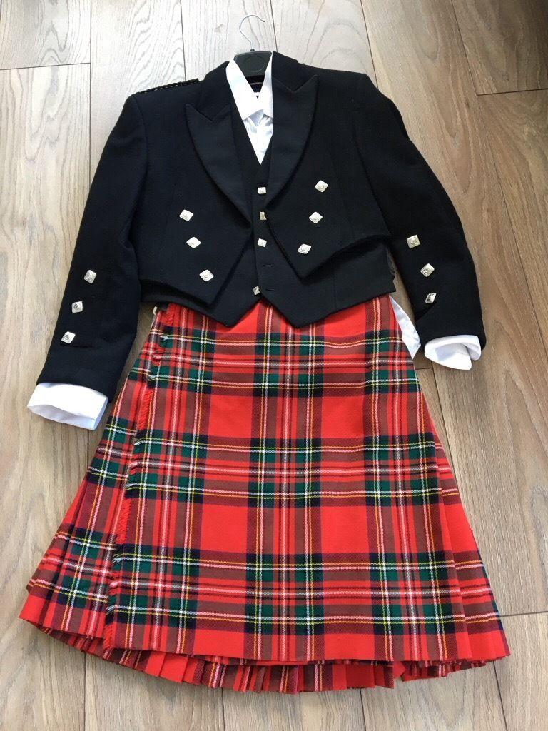 Prince Charlie Jacket, Waistcoat, Shirt & Kilt