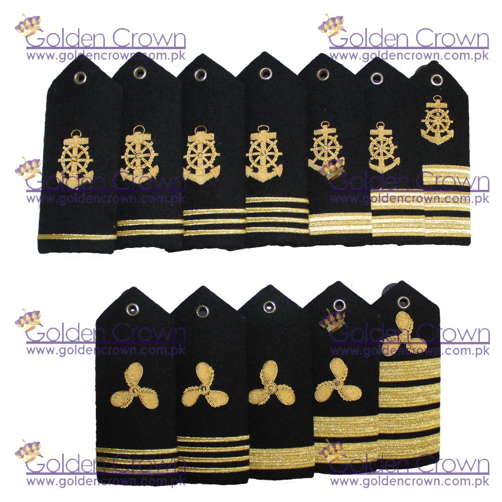 Propeller Shoulder Boards and Epaulets for Merchant Marine