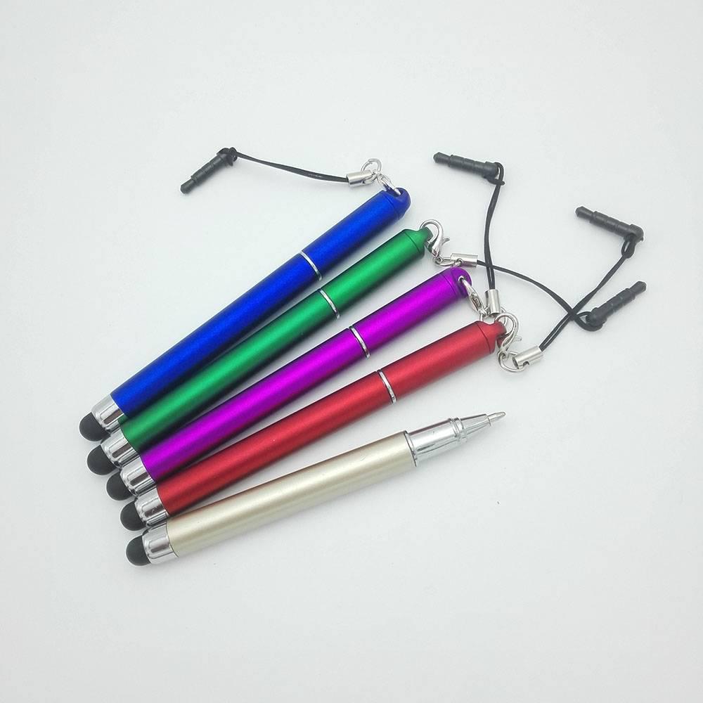 mini stylus ball pen, touch pen with dust plug